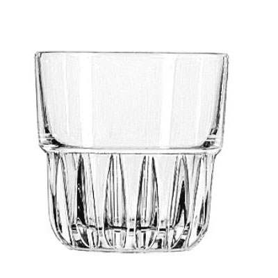 "Libbey Everest Rocks Glasses, 9oz, 3 3/8"" Tall"