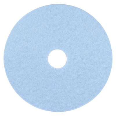 "3M Sky Blue Hi-Performance Burnish Pad 3050, 17"" dia"