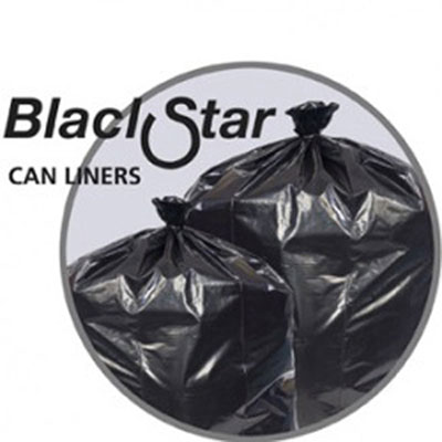 Penny Lane Black Star Low-Density Can Liners, 7-10