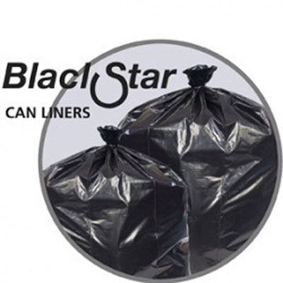 Penny Lane Black Star Low-Density Can Liners, 20-30