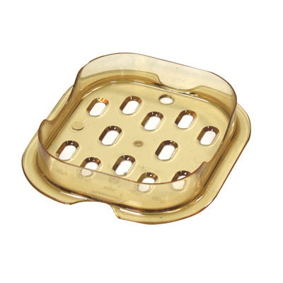 Rubbermaid Commercial Drain Trays, 6 7/8 x 6 3/8, Amber