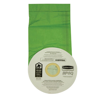 Rubbermaid Commercial Vacuum Bags, Disposable, For