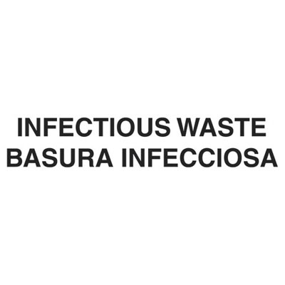 "Rubbermaid Commercial Medical Decal, ""Infectious Waste"", 10"