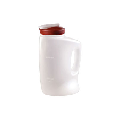 Rubbermaid MixerMate Pitcher, 1gal, Clear/Red