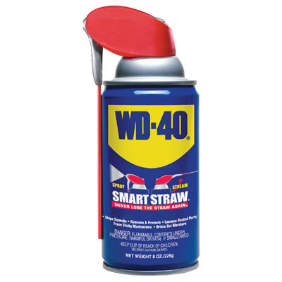 WD-40 Smart Straw Spray Lubricant, 8 oz Can